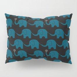 Navy Elephant Parade Pillow Sham
