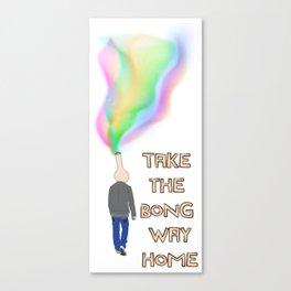 Take the Bong Way Home Canvas Print