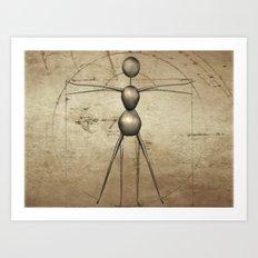 Vitruvian AntWoman Art Print