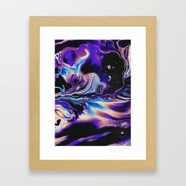 IT TOOK THE LIGHT FOREVER TO GET TO YOUR EYES Framed Art Print
