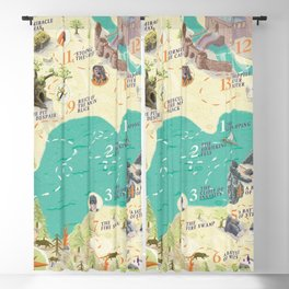 Princess Bride Discovery Map Blackout Curtain
