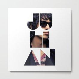 Julian Casablancas The Strokes Font Sunglasses Metal Print
