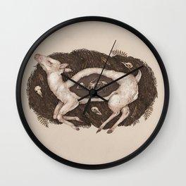 Predaceous Herbivore, Ghost Deer Wall Clock