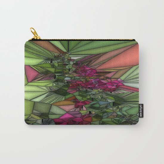 Pink and Green Glass Carry-All Pouch