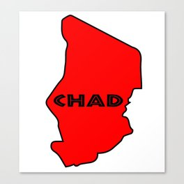 Chad Silhouette Map Canvas Print