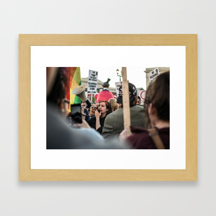 Trump Campaign Protests Framed Art Print