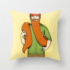 Mr. McBeardy Throw Pillow