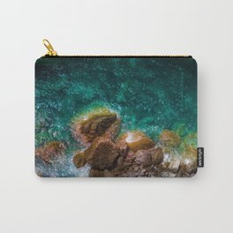 Mossy Rocks in the Water (Color) Carry-All Pouch