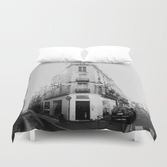 Monochrome France Duvet Cover