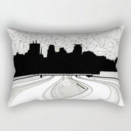 Dreaming the downtown Rectangular Pillow