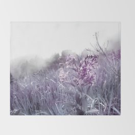 PINKY WILD FLOWER IN THE MOUNTAIN Throw Blanket