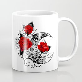 Mechanical Crescent with Red Roses Coffee Mug