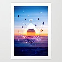 Abstract Geometric Collage II Art Print