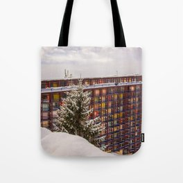 Mountain architecture colorful Tote Bag