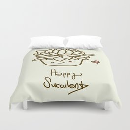 Happy Succulent Duvet Cover