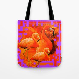 PANTENE ULTRA VIOLET PURPLE  FLAMINGOS ART DESIGN Tote Bag