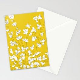Bright Forsythia Stationery Cards