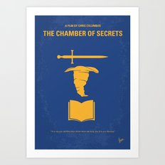 No101-2 My HP - CHAMBER OF SECRETS minimal movie poster Art Print