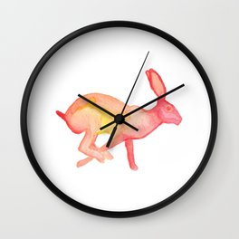 Les Animaux: Jack Rabbit Wall Clock