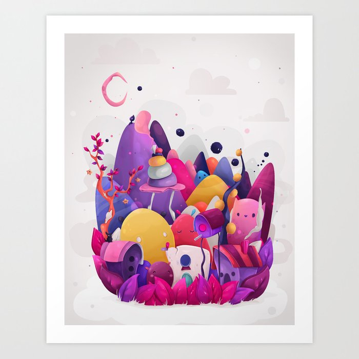 Home for Imaginary Friends Art Print