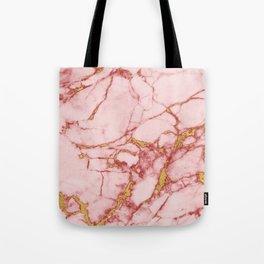 Blush Gold Marble || #society6 #decor #buyart Tote Bag