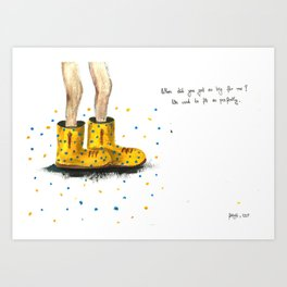 these shoes are too big for me Art Print