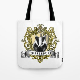 Hufflepuff Color Crest Tote Bag
