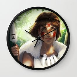Wolf Girl Wall Clock