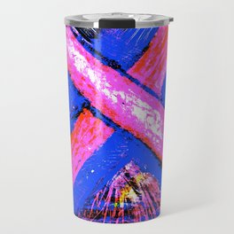 Super-Ribbon!! A Pink Ribbon for Breast Cancer Research by Jeffrey G. Rosenberg Travel Mug