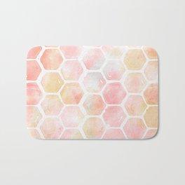 Geometric Watercolor Pattern Bath Mat