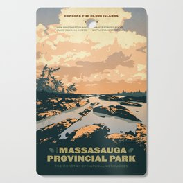 The Massasauga Park Poster Cutting Board
