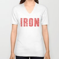 ironman V-neck T-shirts featuring IRONman  by Kramcox