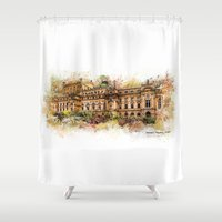 theatre Shower Curtains featuring Slowacki Theatre, Cracow by jbjart