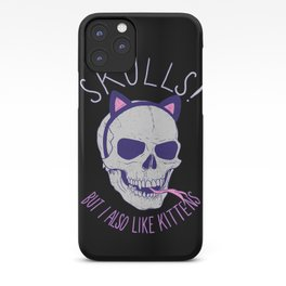 Skulls and Kittens iPhone Case