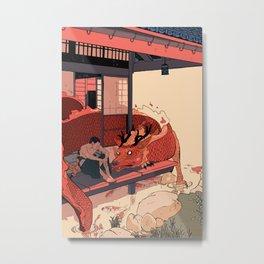 Tell a Dragon Colorful Stories Metal Print