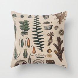 Botany Chart Throw Pillow
