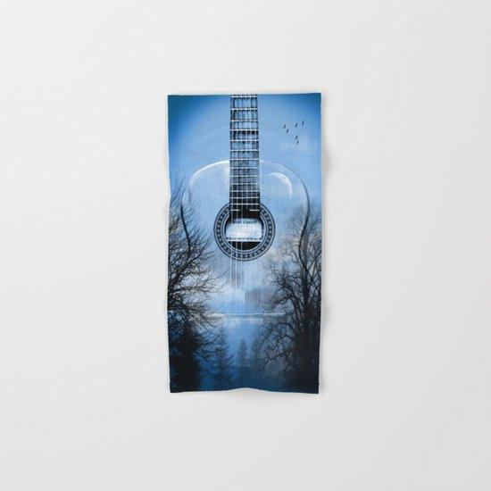 music blue  Hand & Bath Towel