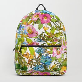 Wild Roses with Hydrangeas Backpack