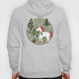 Christmas Winter Unicorn Pattern Hoody