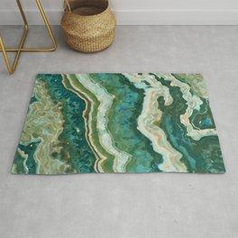 Blue Green Onyx Marble Abstract Vector Art Rug