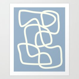 Maze in Gray Blue Art Print