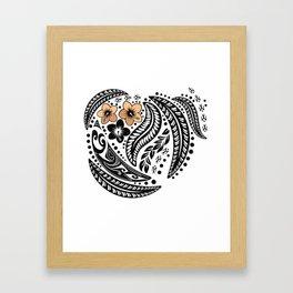 Polynesian Tribal Framed Art Print
