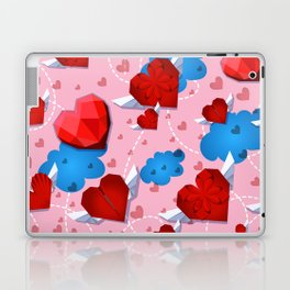 Hearts pattern for textile or wallpaper Laptop & iPad Skin