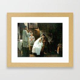 The First and Last Communion,  Cristóbal Rojas Poleo, 1888 Framed Art Print