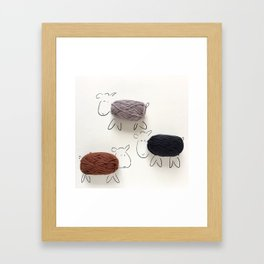 """""""Wool and the Gang"""" Framed Art Print"""