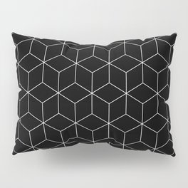 White 3D Cubes Pillow Sham