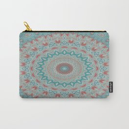 Tribal Medallion Teal Carry-All Pouch