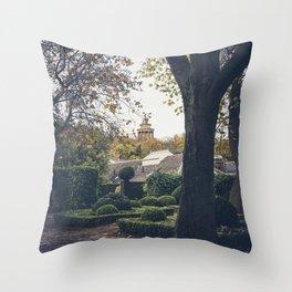dugald Stewart monument seen from public garden Edinburgh Scotland Throw Pillow