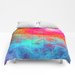 Galaxy : Bright Colorful Nebula Comforters