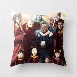 Aang and Katara's Legacy Throw Pillow
